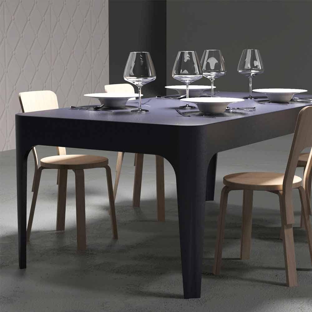 Scrivania tavolo da pranzo rettangolare design moderno for Sedie da pranzo design