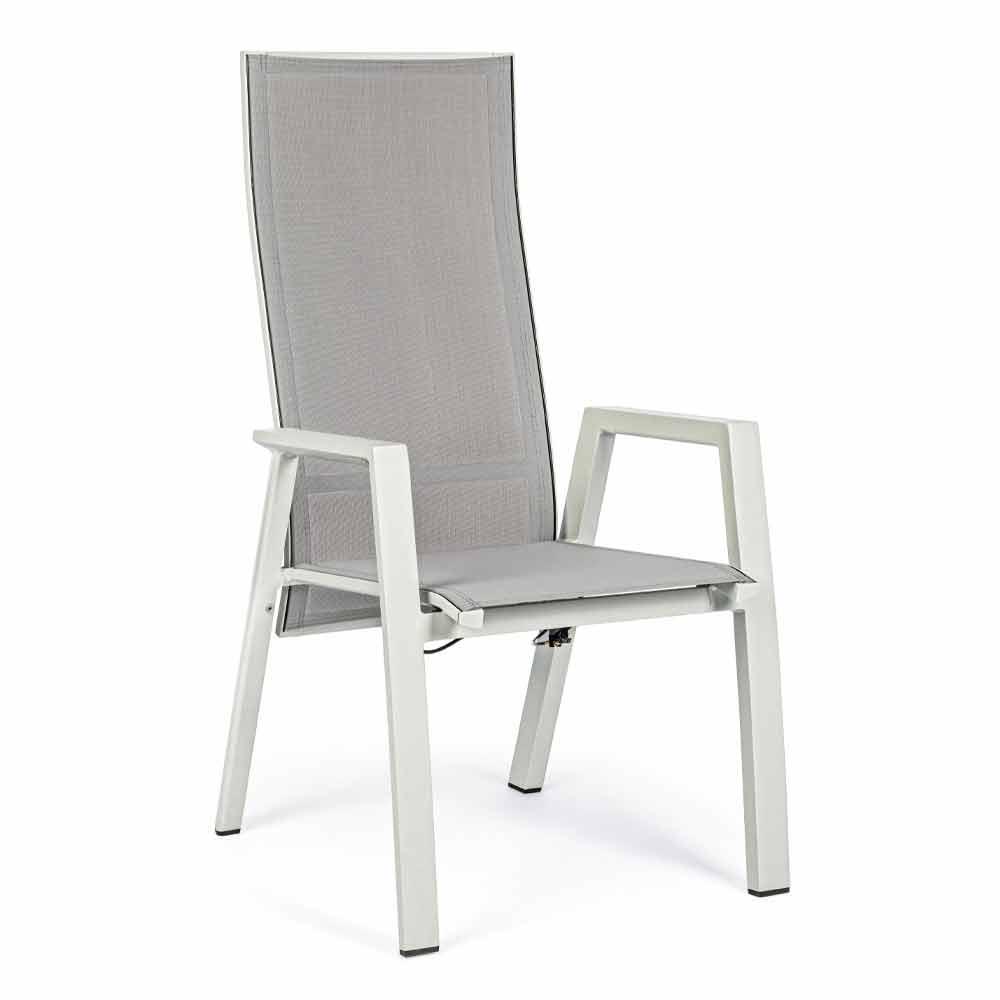 Sedia Da Esterno Con Struttura In Alluminio Verniciato 4 Pezzi