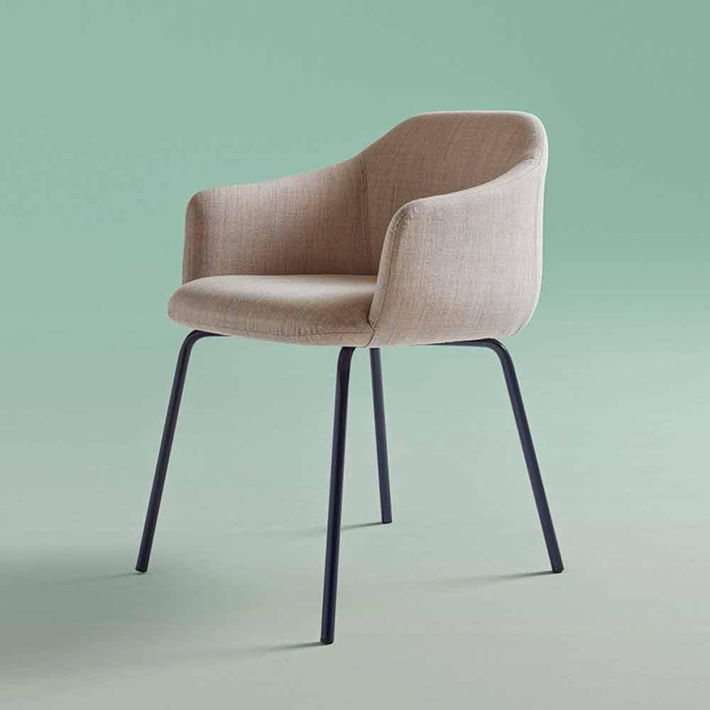 Sedia Imbottita per Sala da Pranzo Moderna di Design Italiano