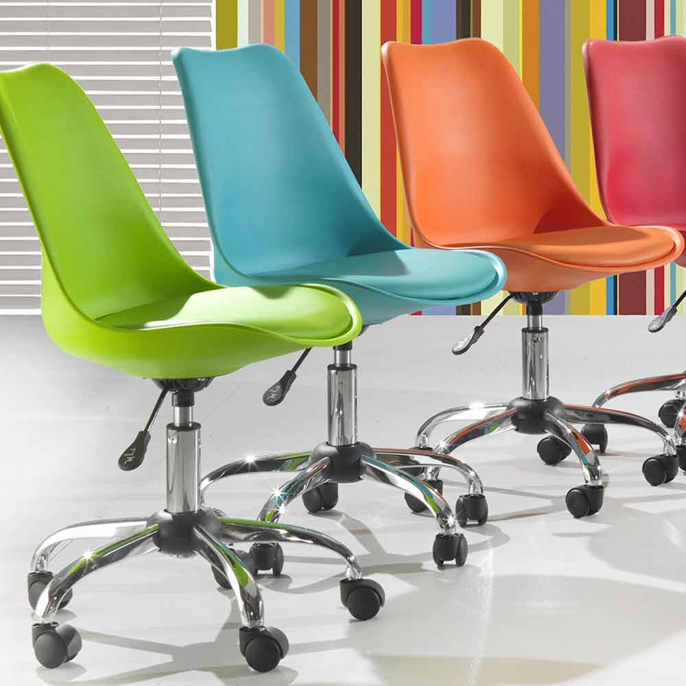 Sedie In Polipropilene Colorate.Sedia Per Ufficio Con Alzo A Gas In Polipropilene Colorato