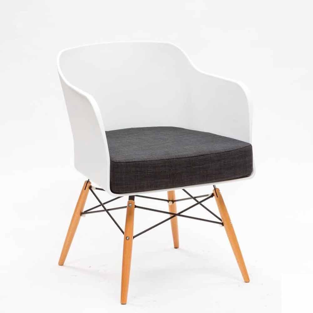 Sedia design moderno in massello di faggio e polipropilene Dual