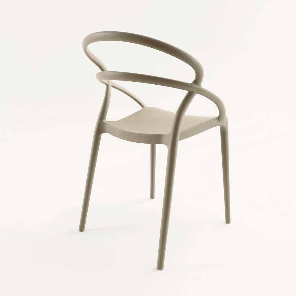 Sedie Polipropilene Design.Sedia Design Moderno In Polipropilene Pavia Diversi Colori