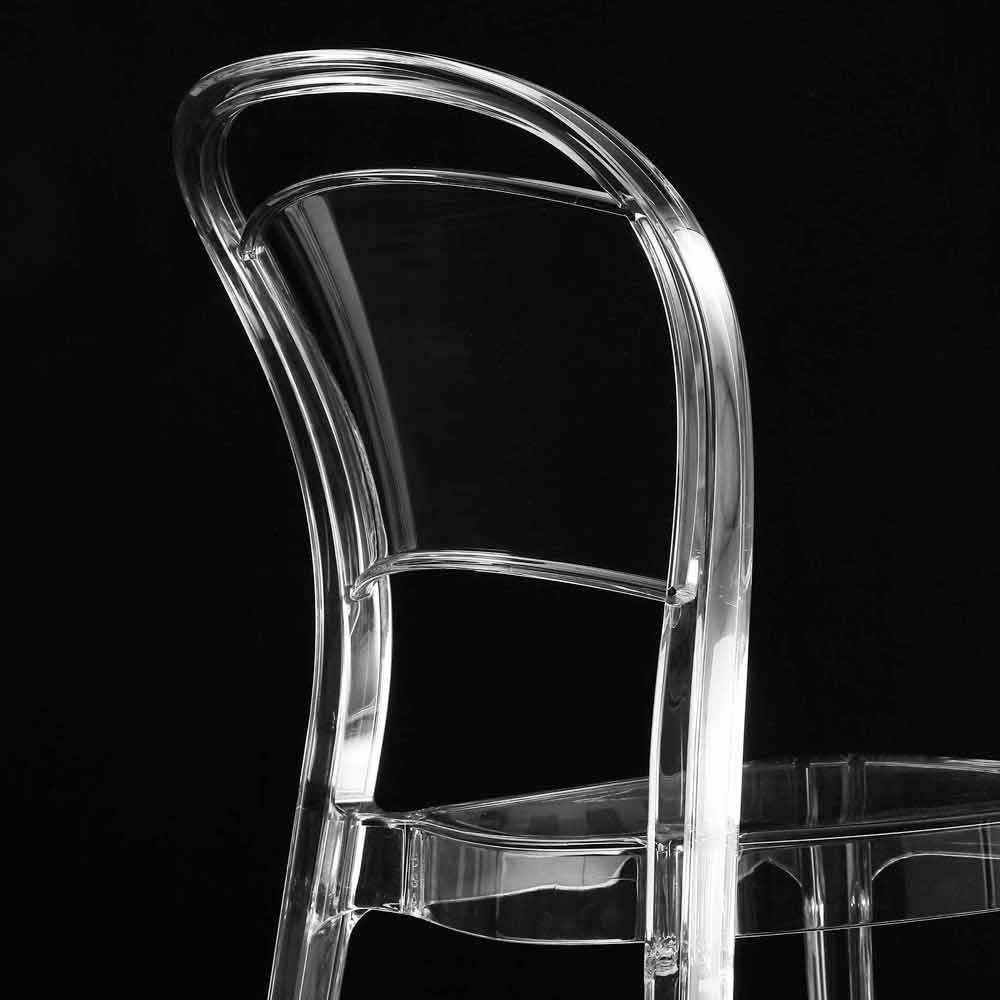 Sedia in policarbonato trasparente per cucina/sala da ...