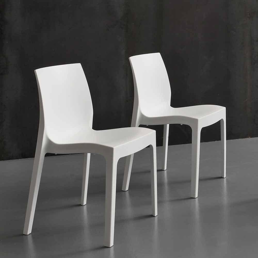 Sedia di design in polipropilene per cucina o sala da for Sedia design pranzo