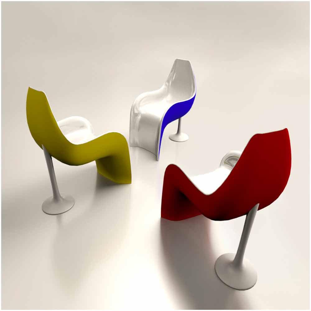 Sedia poltrona design in adamantx helled made in italy for Poltrona design