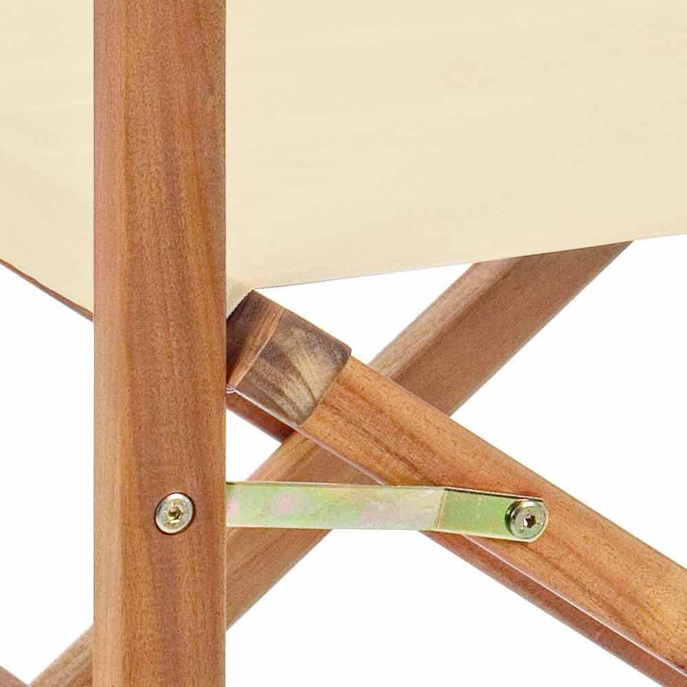 Sedie Di Legno Da Giardino.Sedia Regista Di Design In Legno Da Esterno Per Giardino
