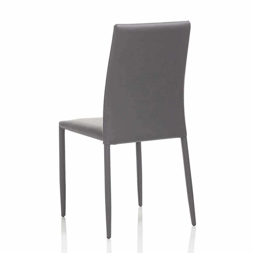 4 Sedie Moderne per Sala da Pranzo con Seduta in Similpelle