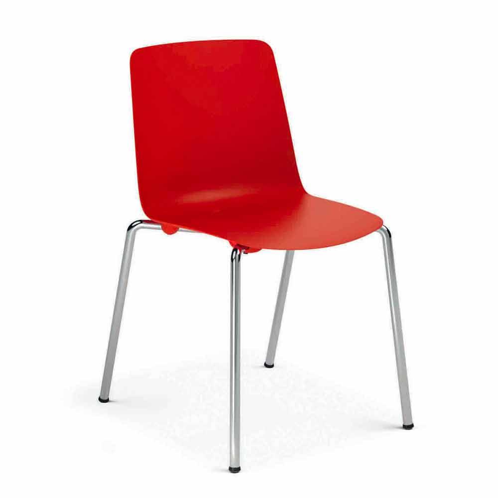 Sedie in Metallo e Polipropilene Sala da Pranzo Made in ...