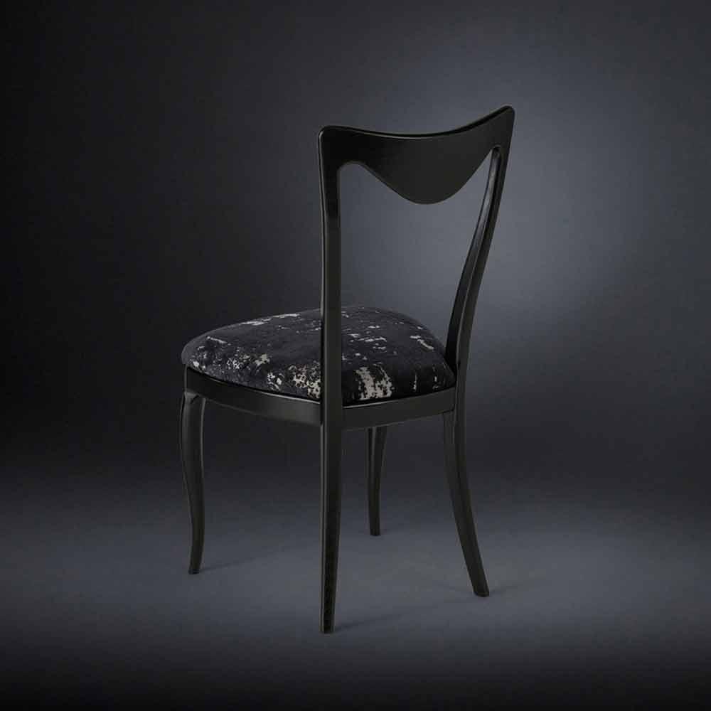 Set 2 sedie anni 50 rivestite in tessuto misto velluto frida for Sedie design velluto