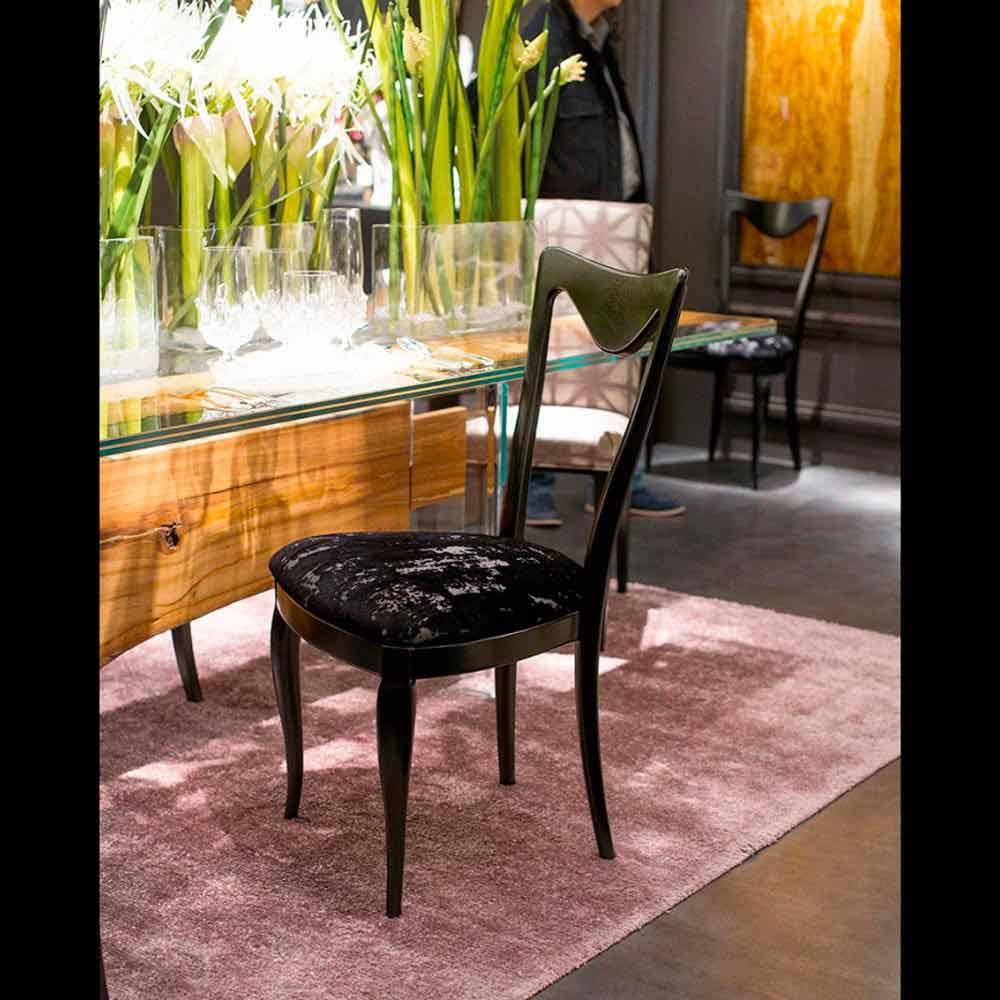 Set 2 sedie anni 50 rivestite in tessuto misto velluto frida - Sedie design anni 50 ...