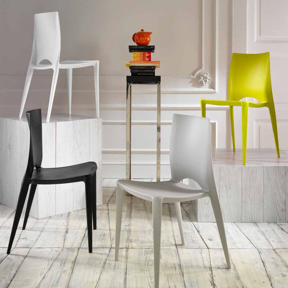 Set 4 sedie moderne da cucina o sala da pranzo felicia for Sedie moderne cucina