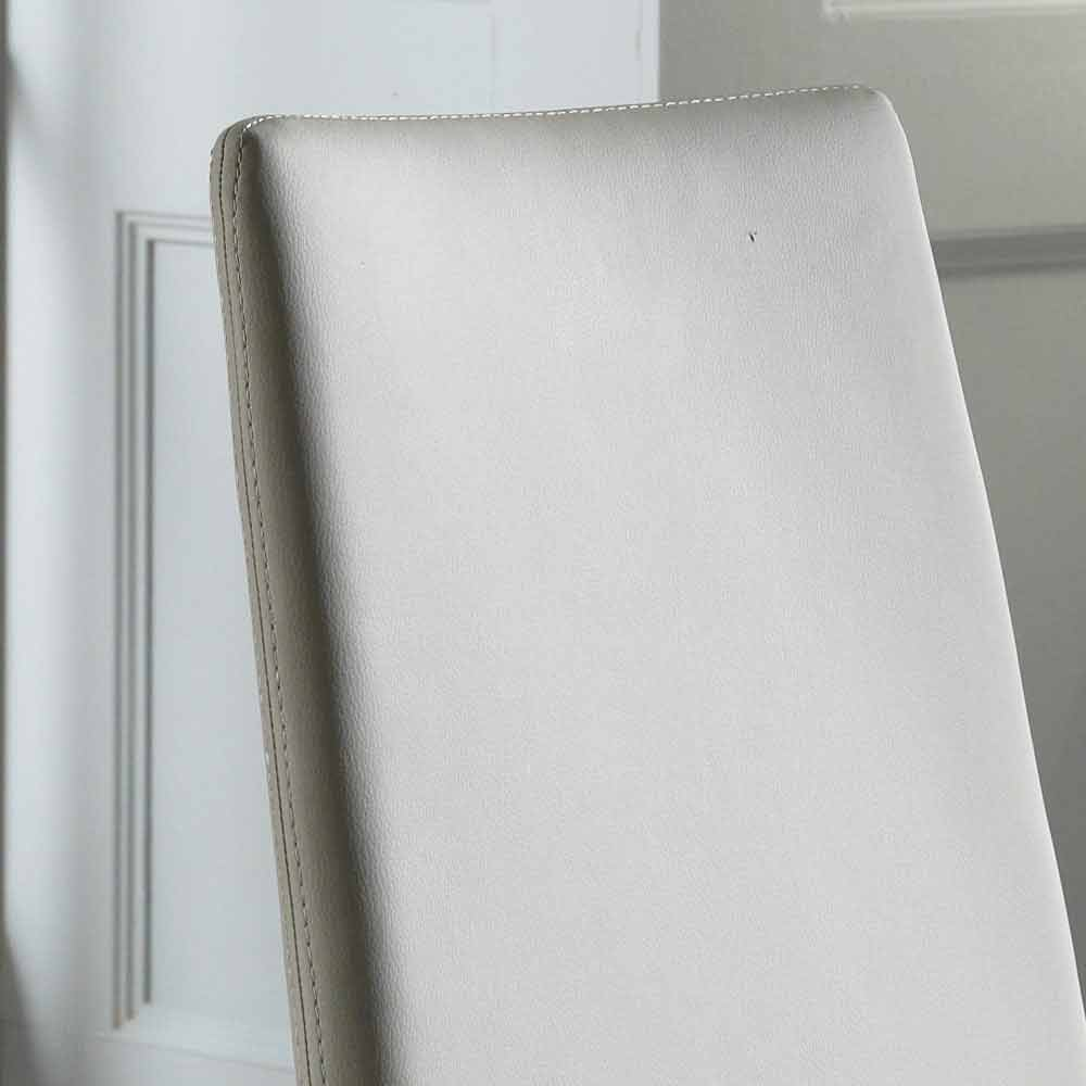 Set 4 sedie moderne in ecopelle bianche, grigie o tortora Dora