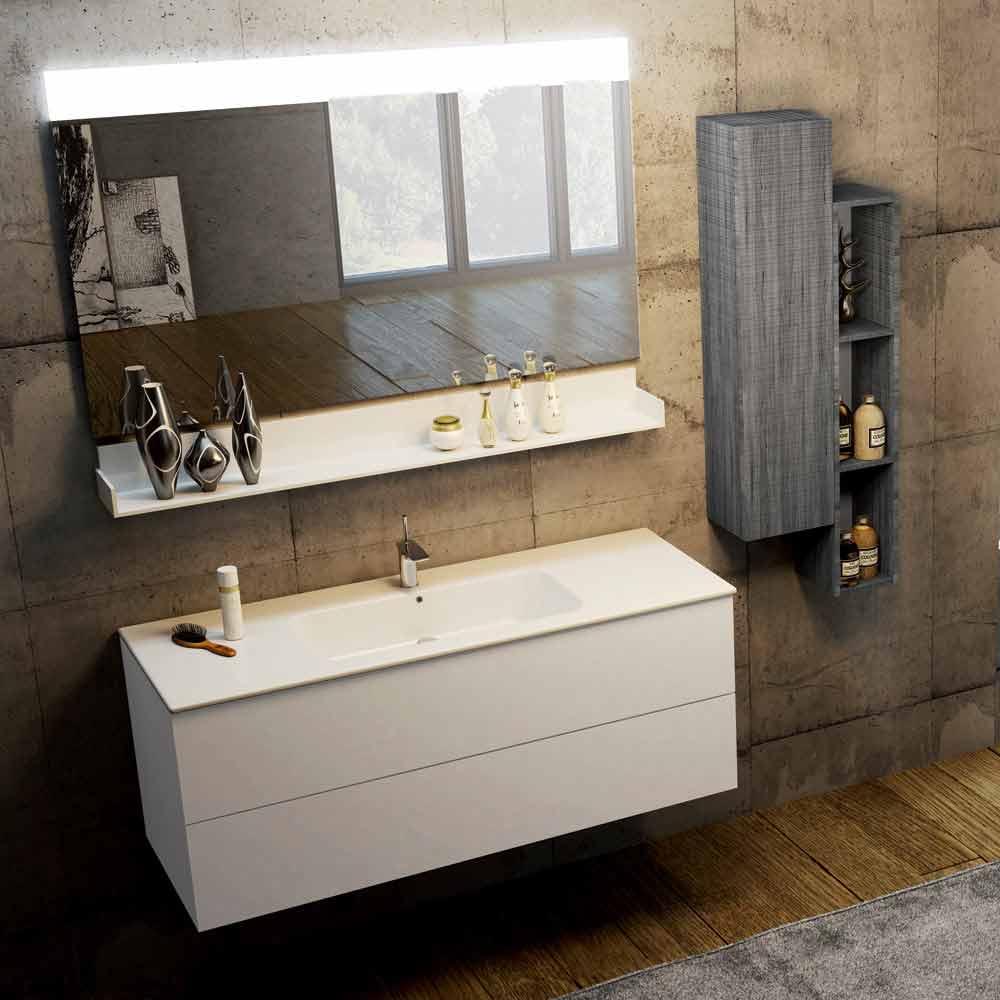 Composizione mobili da bagno sospesi in ecolegno e fenix bari for Arredo bagno bari