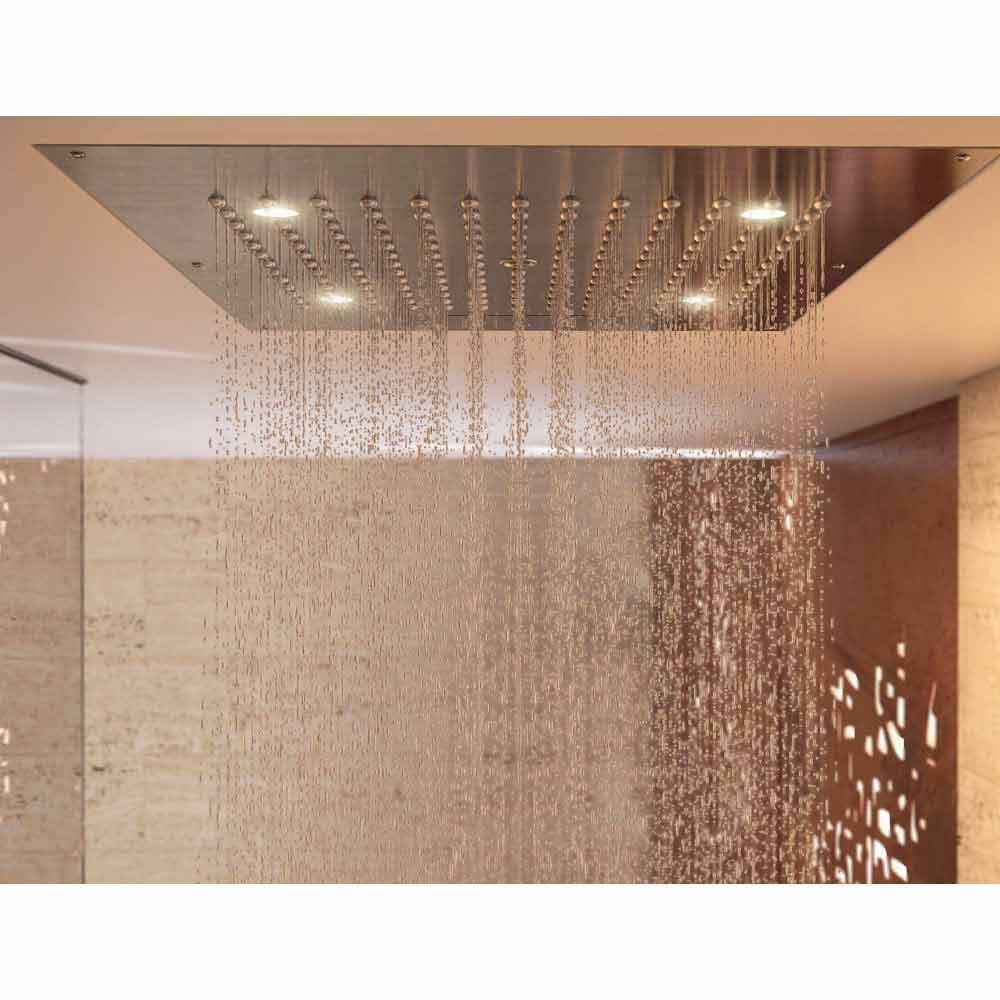 Bossini soffione doccia con cromoterapia a due getti - Dove posizionare soffione doccia ...