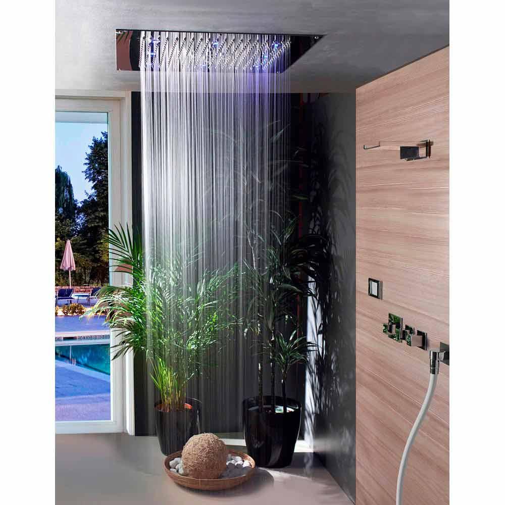 Bossini soffione doccia da soffitto con cromoterapia e due getti dream neb - Soffione doccia soffitto ...