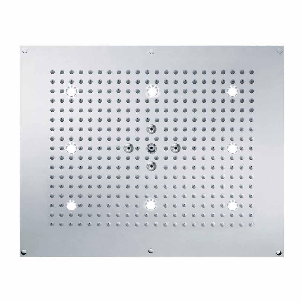 Bossini Soffione doccia da soffitto con LED a due getti Dream Neb