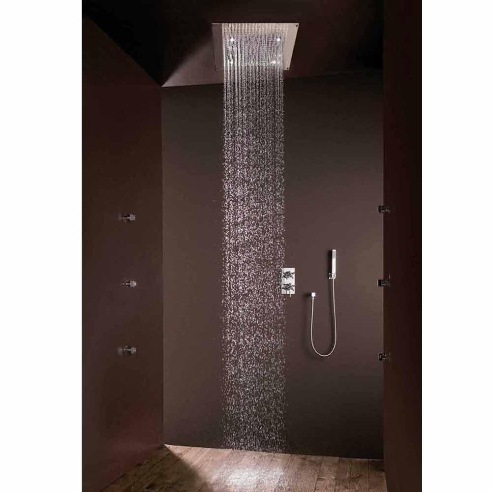 Bossini soffione doccia design moderno con getto pioggia e luci led - Illuminazione doccia con led ...