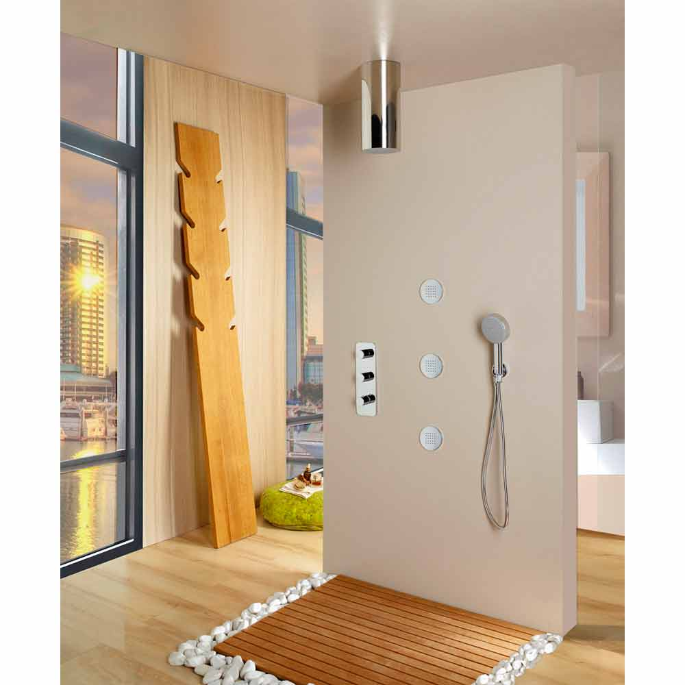 Bossini soffione doccia design moderno ed elegante a un getto - Doccia design moderno ...