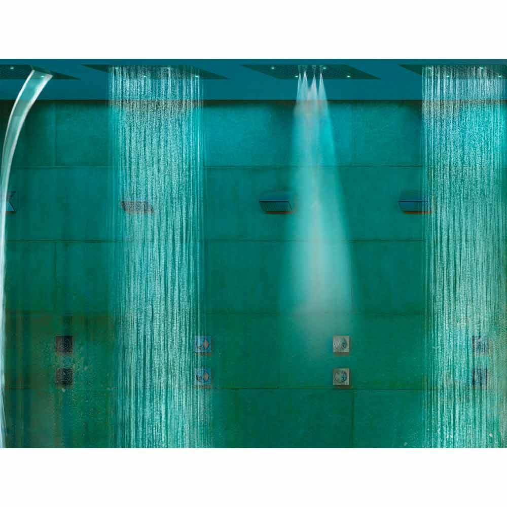 Bossini soffione doccia moderno a quattro funzioni e cromoterapia dream - Soffione della doccia ...