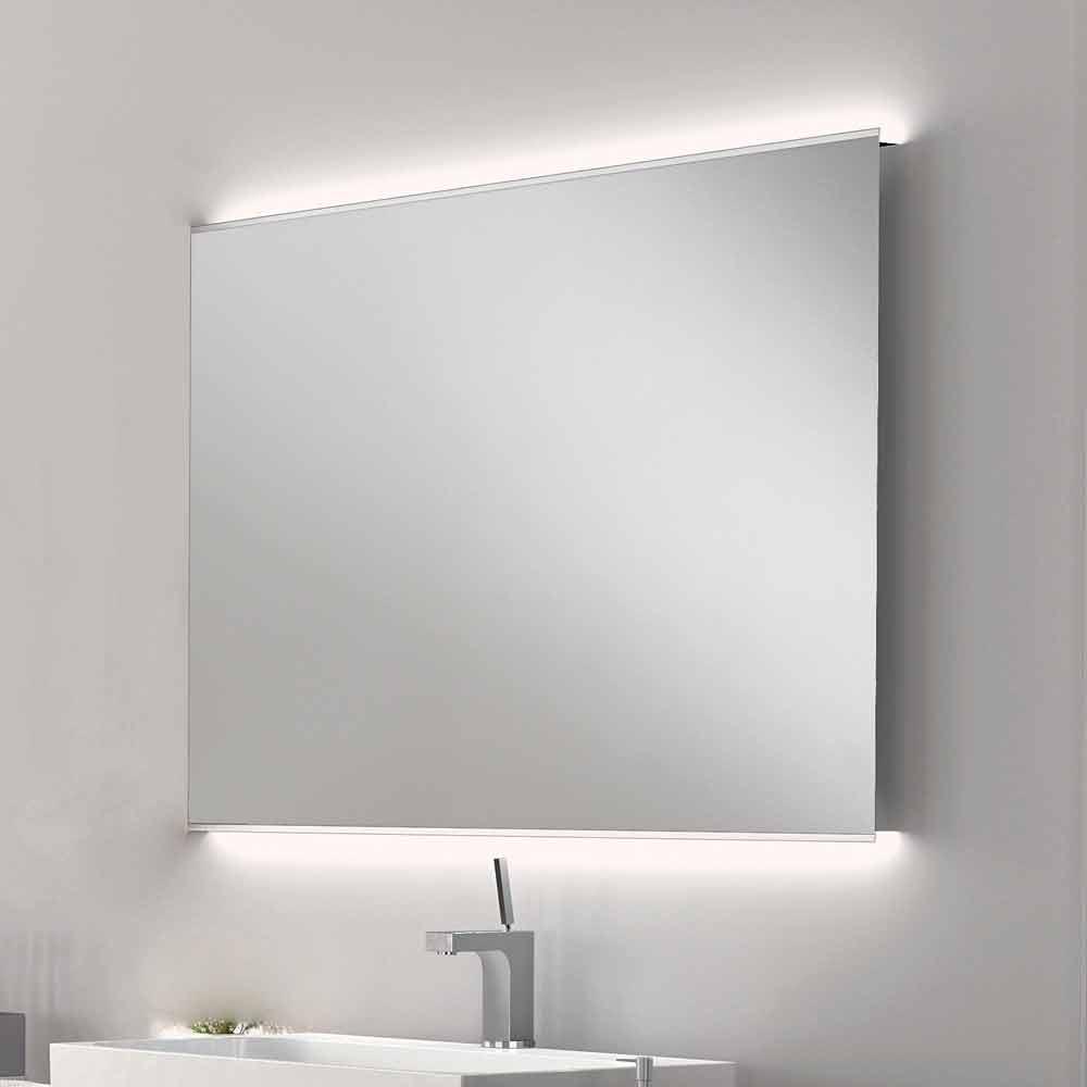 Specchio bagno con luce led design moderno con bordi - Specchio con luce per bagno ...