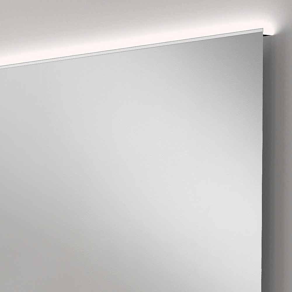 Specchio bagno con luce led design moderno con bordi - Specchio per bagno con luce ...
