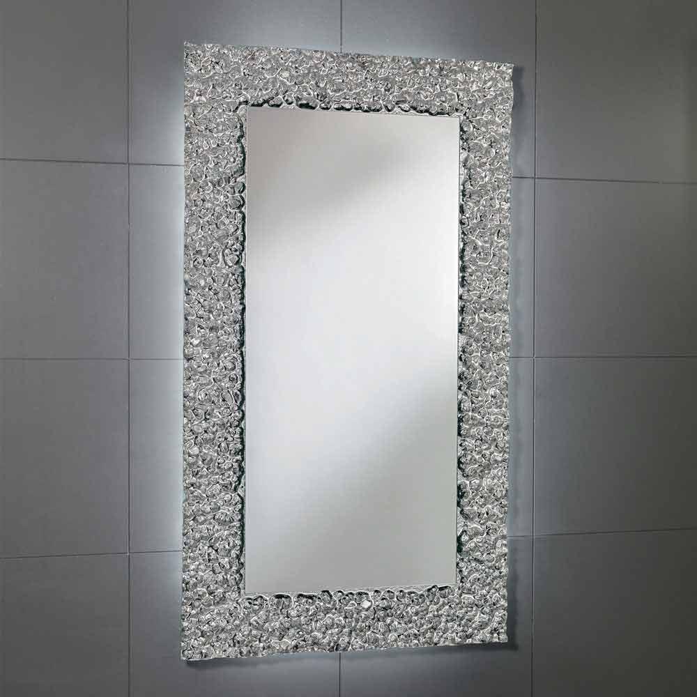 Specchi Moderni Con Cornice.Specchio Con Decoro Cornice In Vetro Design Moderno Cecilia