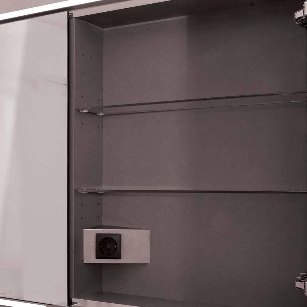 Specchio Contenitore Led A 2 Ante Design Moderno Da