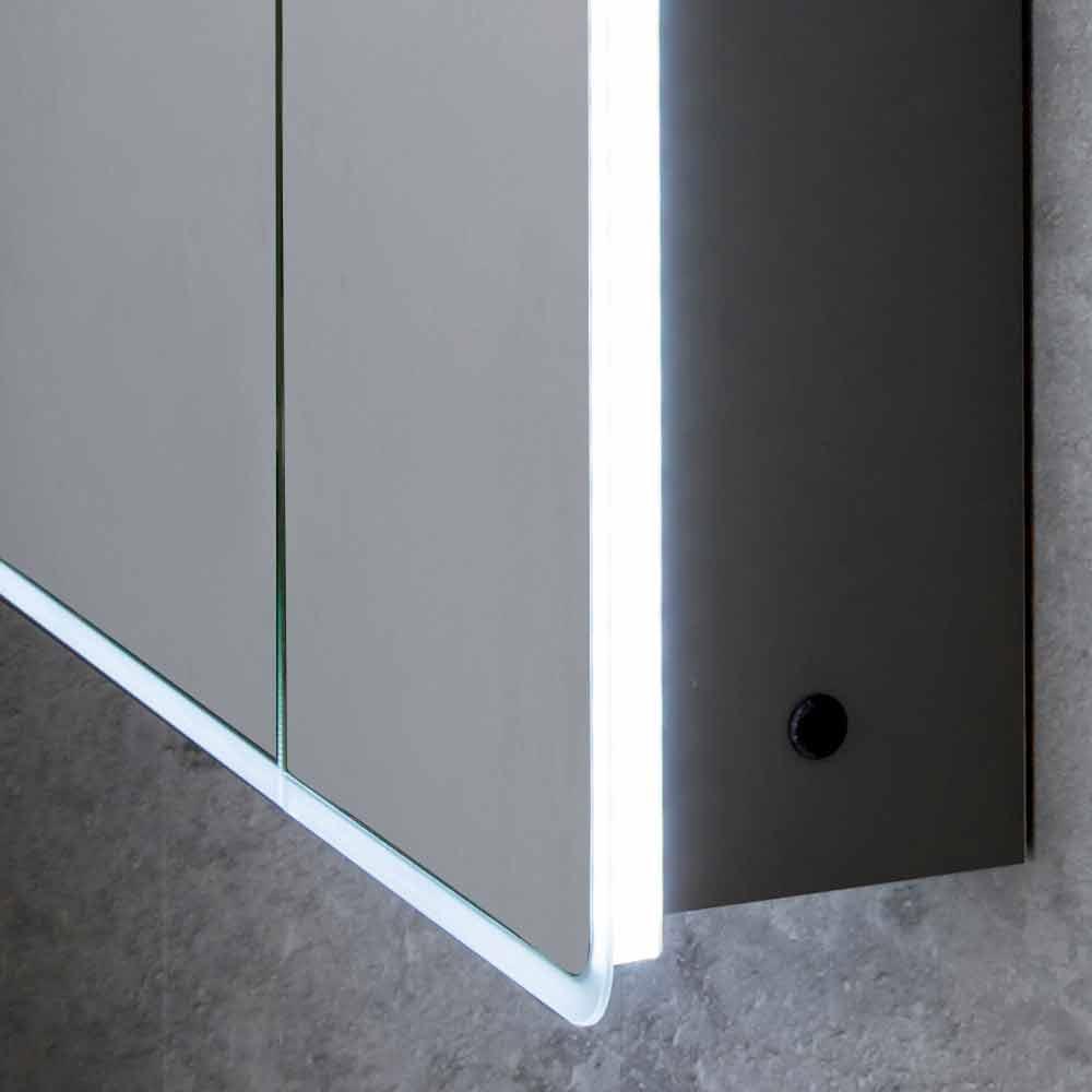 Specchio Da Bagno Con Luci Led.Specchio Contenitore Moderno A 2 Ante Da Bagno Con Luci Led Valter