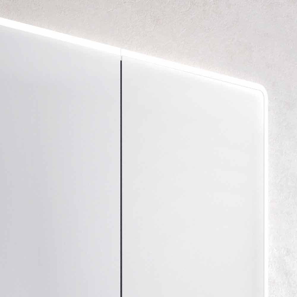 Specchio da bagno a parete con led e 3 ante design - Specchio da bagno ...