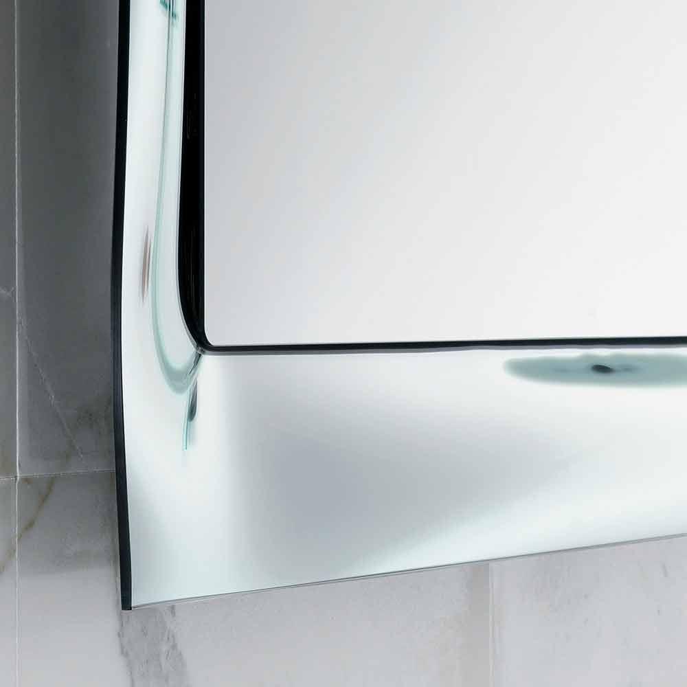 Specchio da bagno cornice vetro fuso argentato design moderno Arin