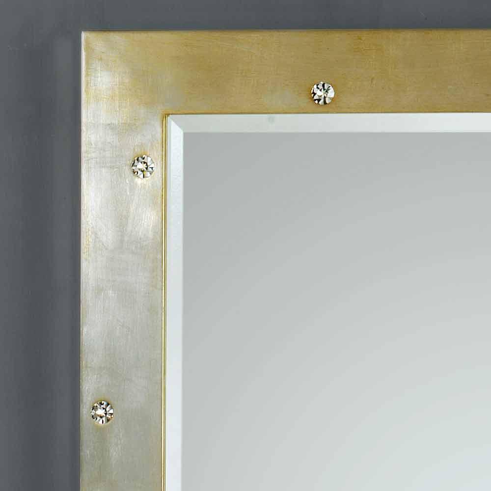 Specchio da muro / terra design moderno con cristalli Swarovski