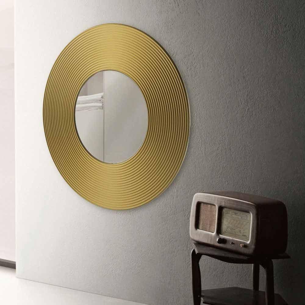 Specchio da parete dal design moderno malva diversi colori for Specchio design moderno da parete