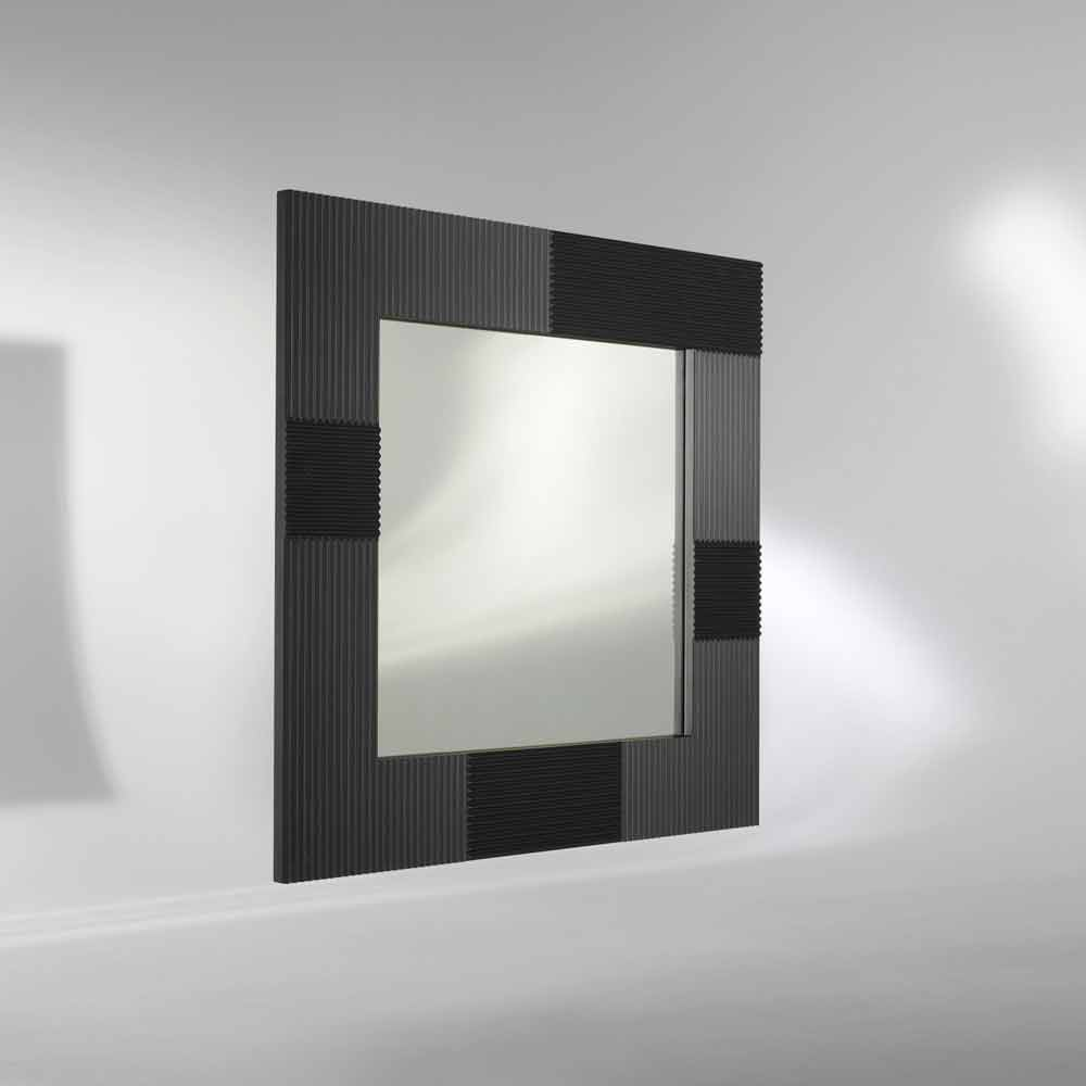 Specchio da parete design moderno con cornice decorata thalia for Specchio girevole da terra