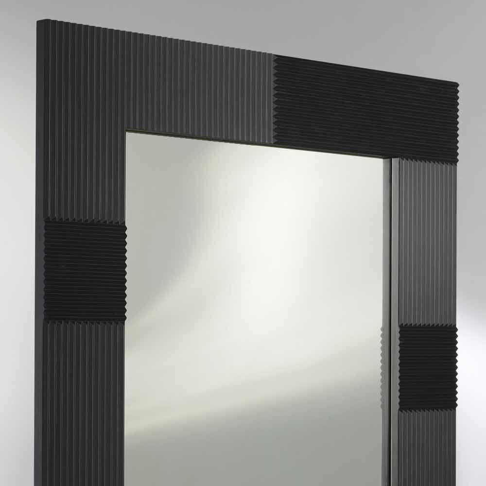 Specchio da parete design moderno con cornice decorata Thalia