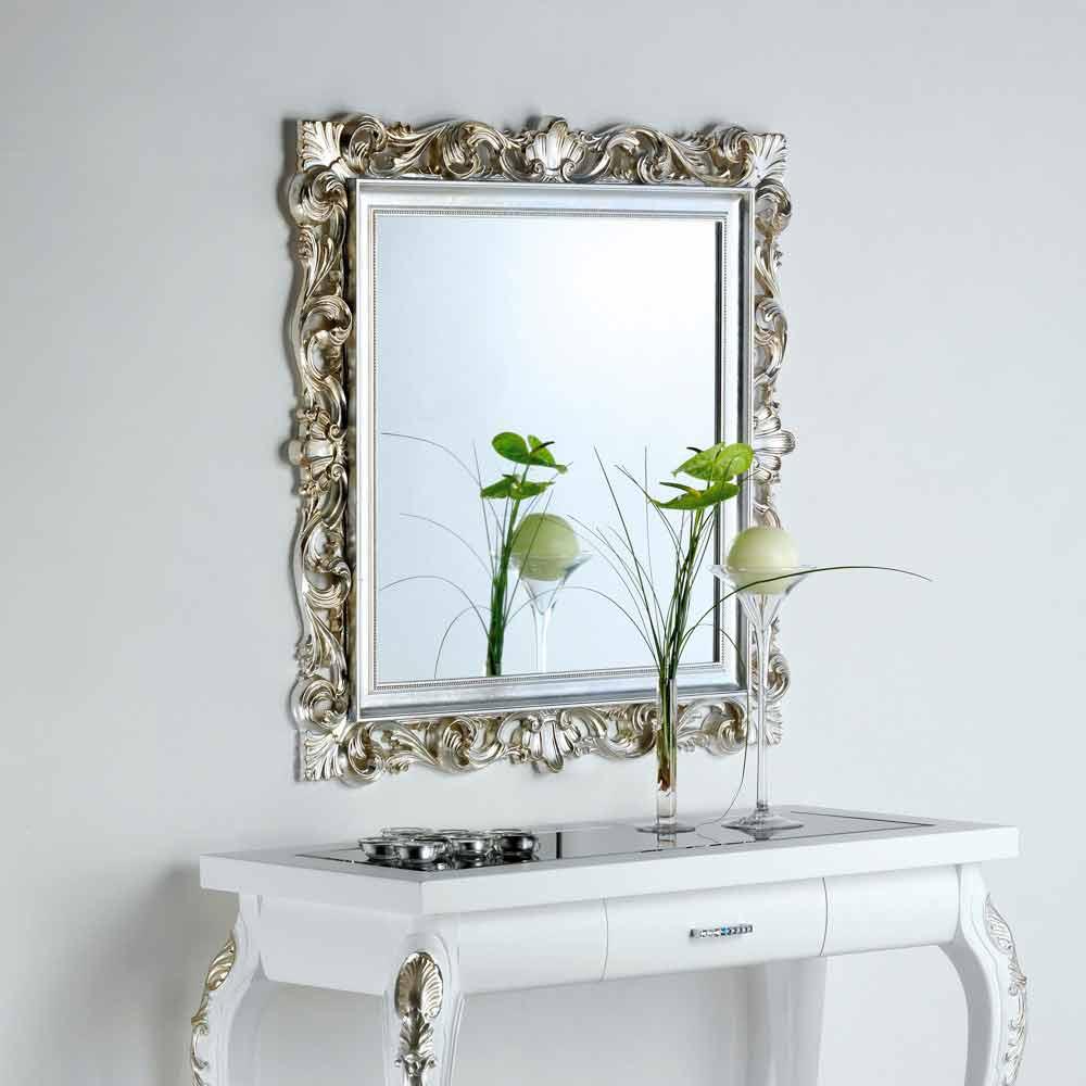 Specchio da parete di design con cornice decorata marsy - Specchio di design ...