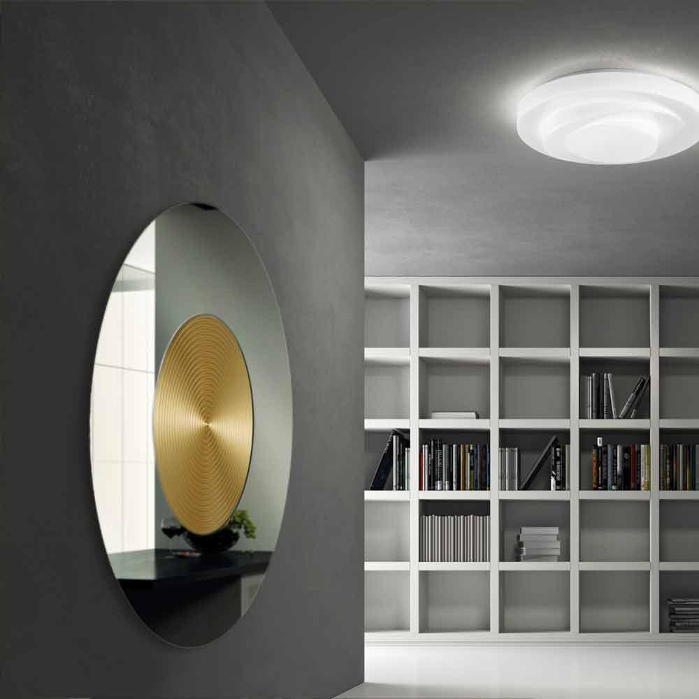 Specchio da parete di design con supporto in MDF Malva