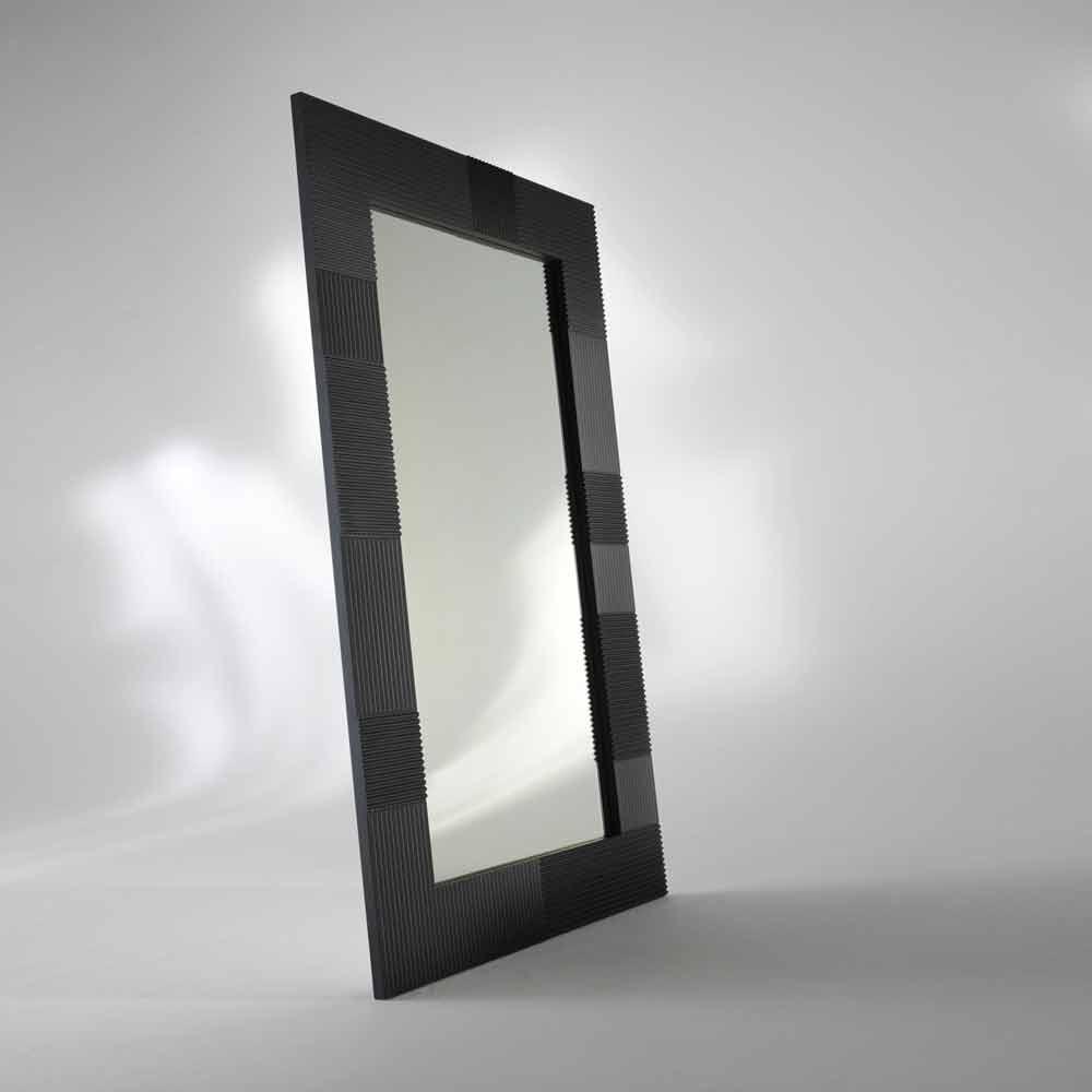 Specchio da terra rettangolare thalia design moderno for Specchio girevole da terra