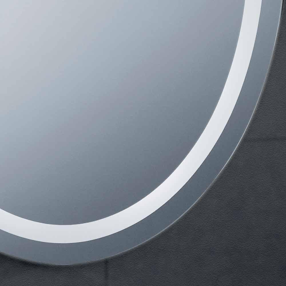 Specchio design moderno con illuminazione led da bagno pura - Specchio con illuminazione led ...