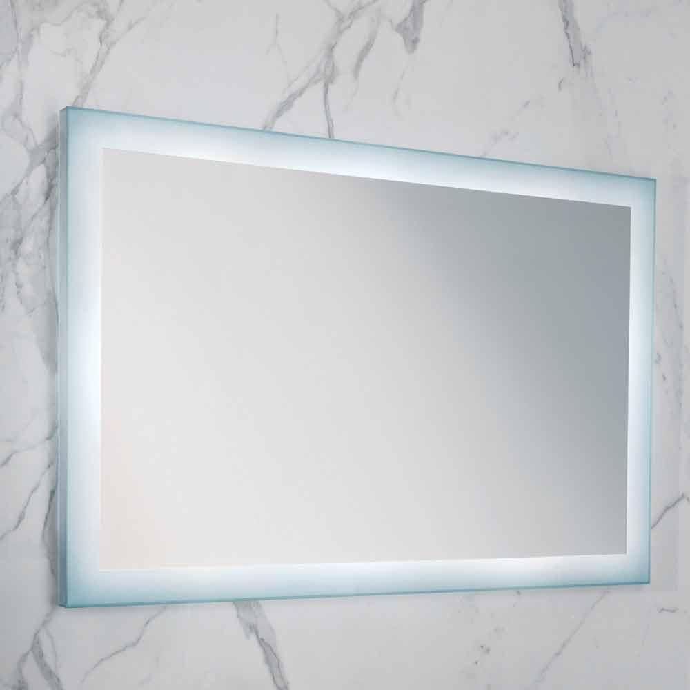 Specchio moderno con bordi vetro satinato illuminazione - Specchio con illuminazione led ...