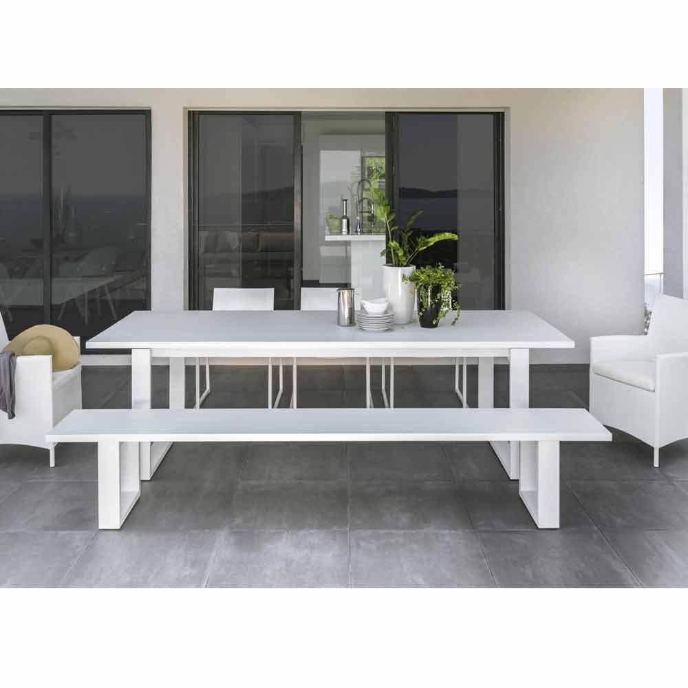 Talenti Essence panca da giardino in alluminio bianco made ...