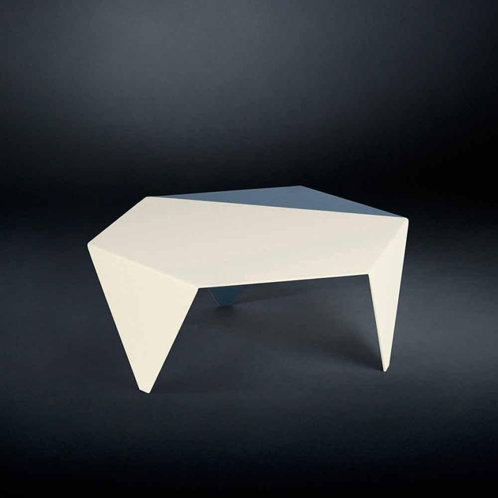 Orologi Da Tavolo Design Moderno Originale : Tavolino da caffè di design in metallo bicolore tagliato