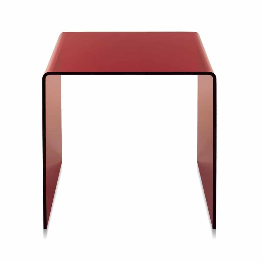 Tavolini In Plexiglass : Tavolino rosso design moderno cm terry big made in italy