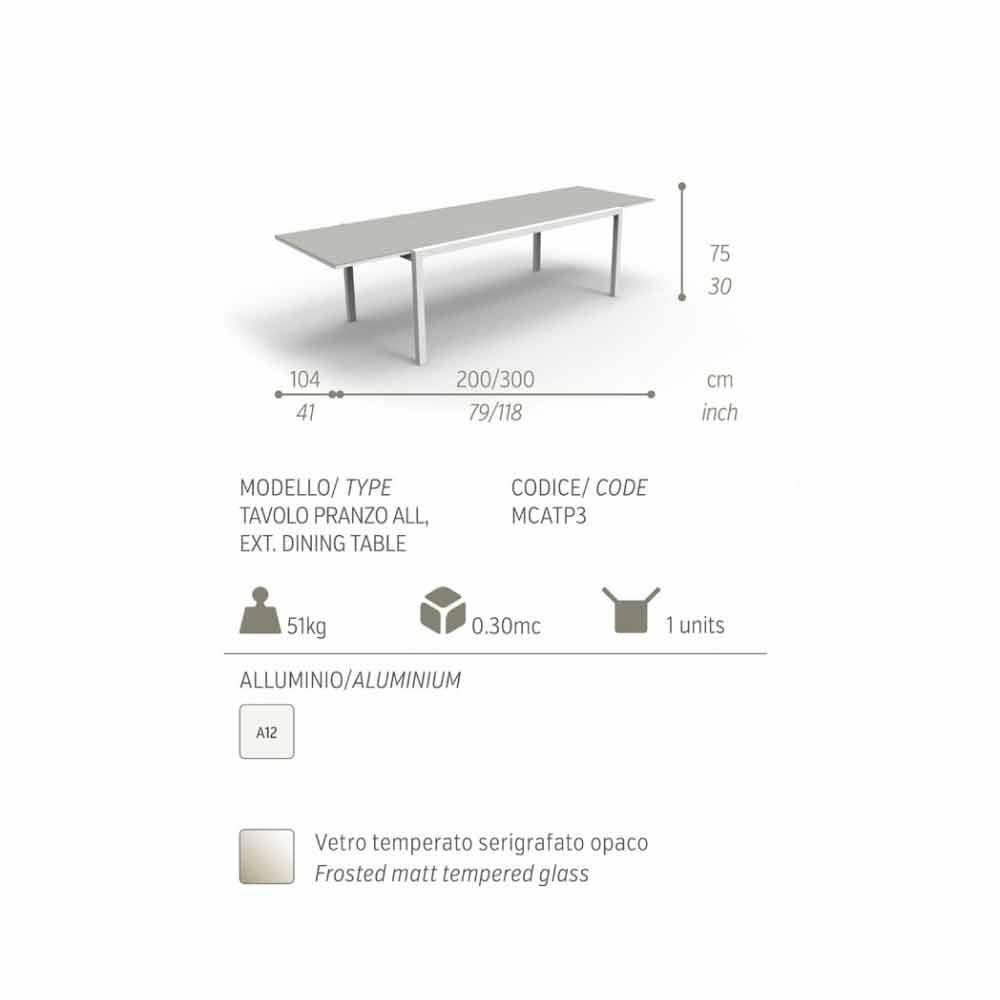 Tavolo Da Giardino Alluminio Allungabile.Tavolo Allungabile Da Giardino Maiorca By Talenti