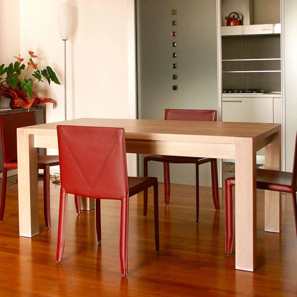 Tavolo allungabile design in legno di rovere l160 for Tavolo rovere design