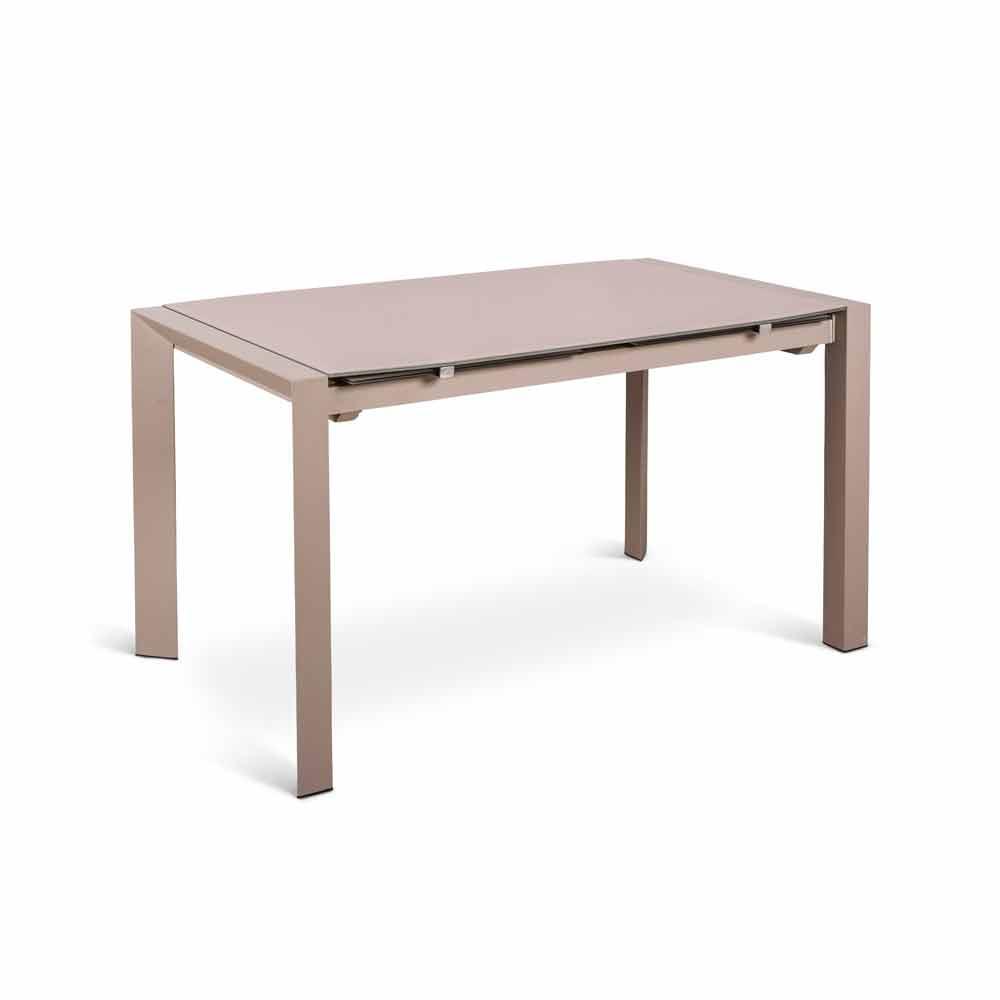 tavolo allungabile design moderno con top in vetro zeno - Tavolo Allungabile Design Moderno