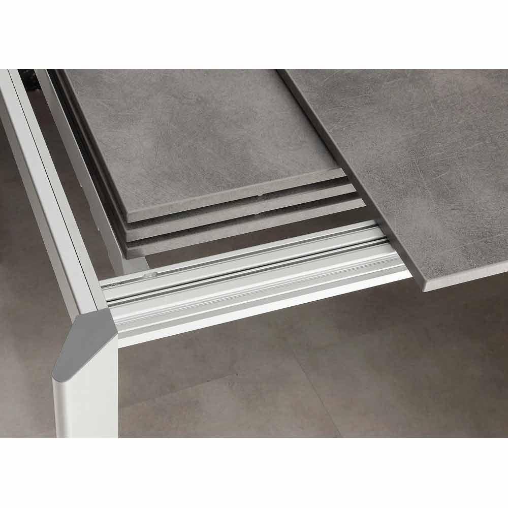 Tavolo allungabile fino a 3 metri in alluminio e laminato for Runner tavolo 2 metri