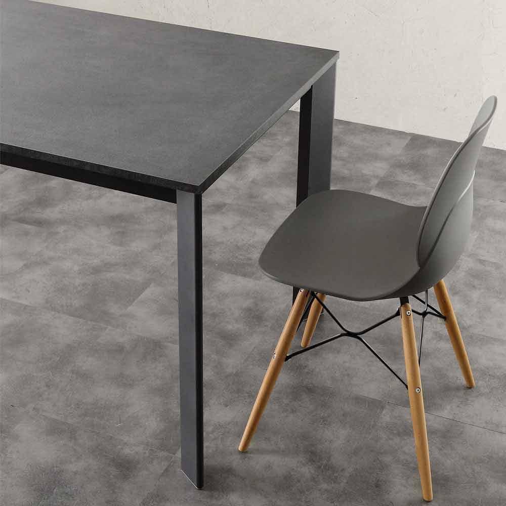 Tavolo allungabile fino a 3 metri in alluminio e laminato for Tavolo allungabile 4 metri