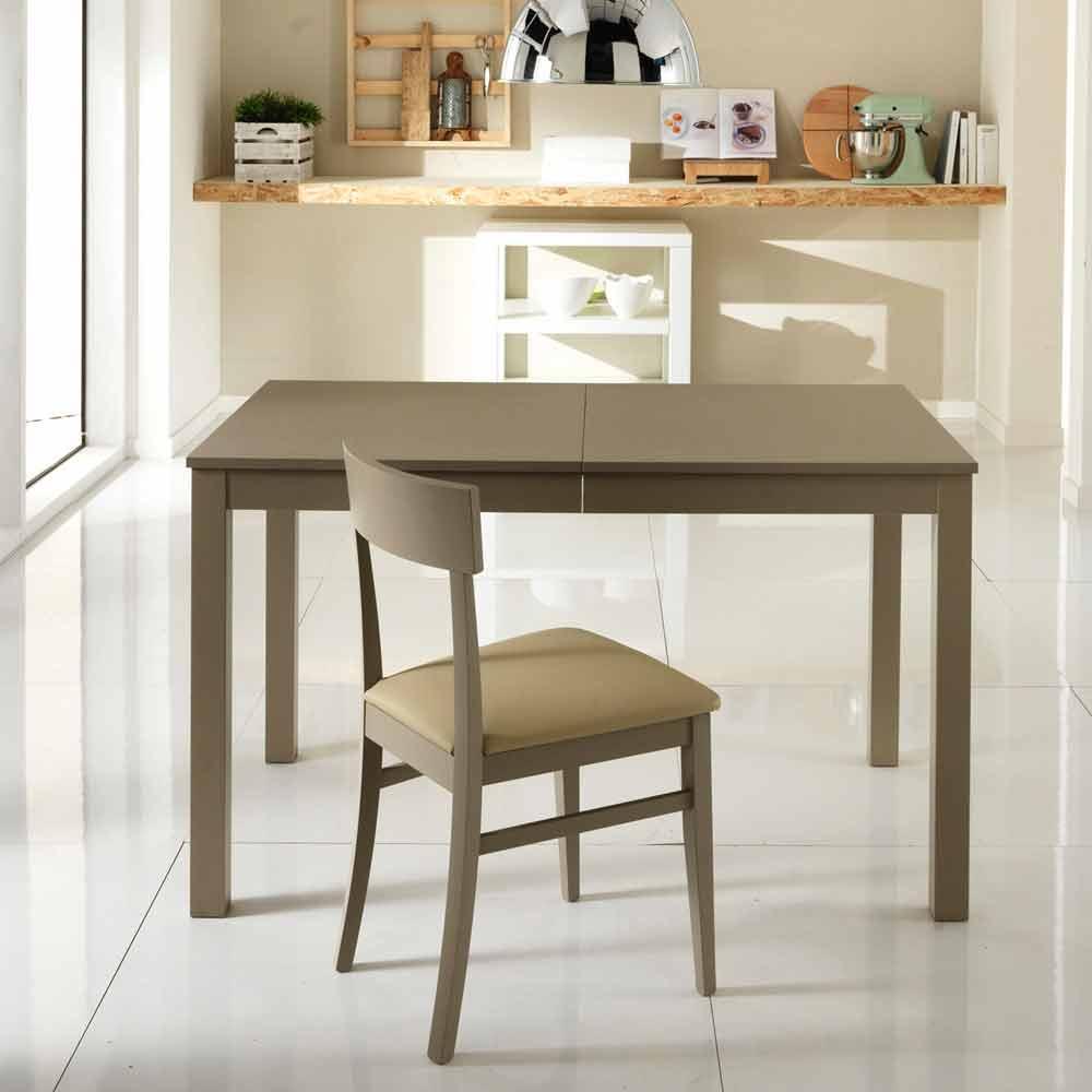 Tavolo allungabile in legno di faggio made in italy tito for Tavolo di legno allungabile