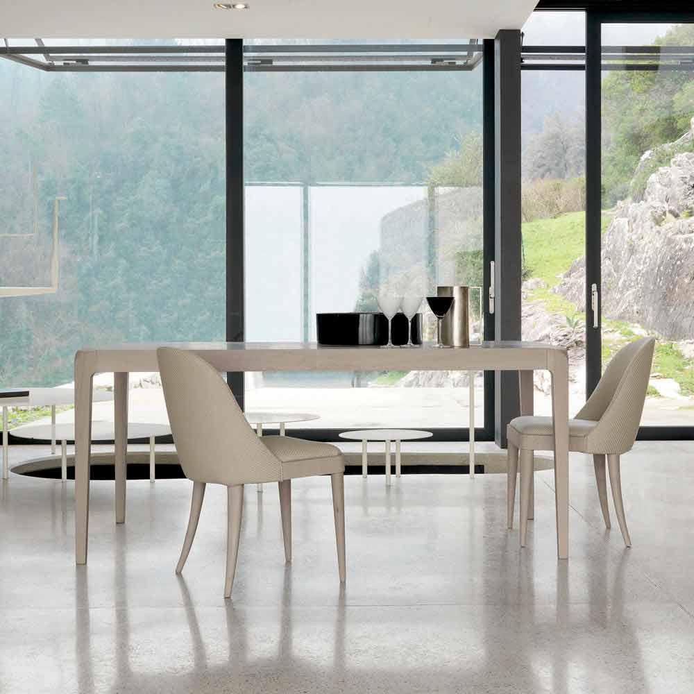 Tavolo allungabile noce grigio naturale design moderno matis for Tavolo in legno design