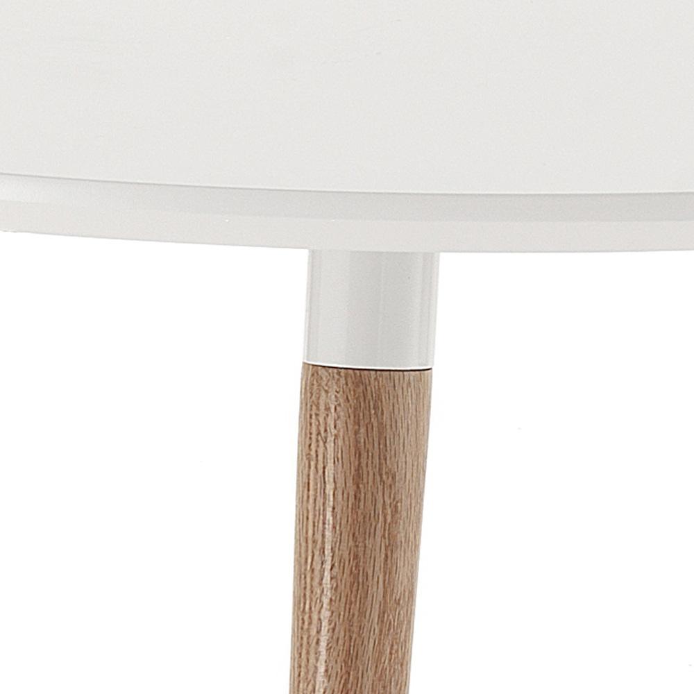 Tavolo allungabile in legno piano bianco opaco ian - Tavolo in legno bianco ...